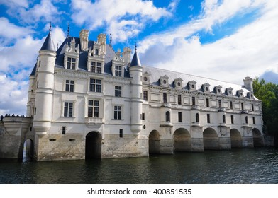 Chenonceau castle is one of the famous castle in the loire valley, located in the village of Chenonceaux, in the Indre-et-Loire region of France. The picture was taken on the 27th of September 2012.