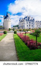 Chenonceau castle is one of the most famous castles of the loire valley in France and belongs to the UNESCO world heritage. The picture of the castle was taken on the 27th of September 2012.