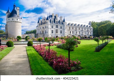 Chenonceau castle is one of the most famous castles of the loire valley in France. It is located in the village of Chenonceau. This picture of the castle was taken on the 27th of September 2012.