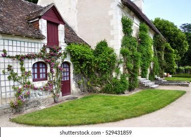 CHENONCEAU, FRANCE - JUNE, 2013 - Farm at the Chateau de Chenonceau, Loire Valley castle near the village of Chenonceaux.