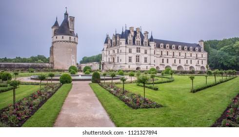 Chenonceaux, France - 05/30/18: Chenonceau