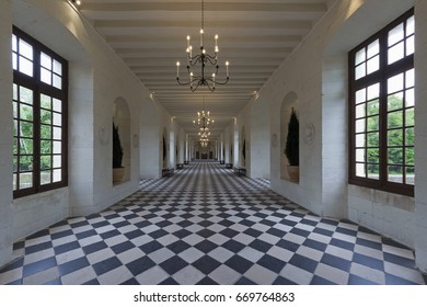CHENONCEAUX, FRANCE - APRIL 2014; Interior of the Chateau de Chenonceau in Loira Valley, France.
