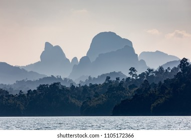 Cheo Lan lake. Khao Sok National Park. Thailand