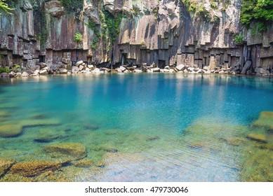 Cheonjeyeon Falls, Jeju Island, South Korea