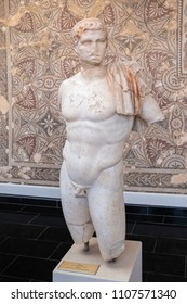 CHERCHELL, ALGERIA - APRIL 24, 2018: Beautiful marble  statue of king Juba II from Caesarea Iol