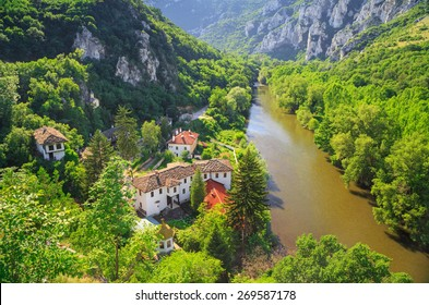 "The Cherepish Monastery ""God's mother Assumption"" lies in the gorgeous Iskar defile on the banks of the Iskur River, Bulgaria."