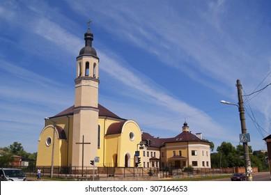 CHERNIHIV, 04.07.2015 - Roman catholic church, in summer