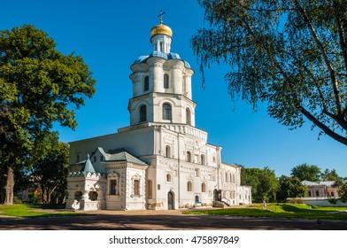 CHERNIHIV, UKRAINE - AUGUST 28, 2016: Collegium medieval building - the first higher religious educational institution in Chernihiv, Ukraine.