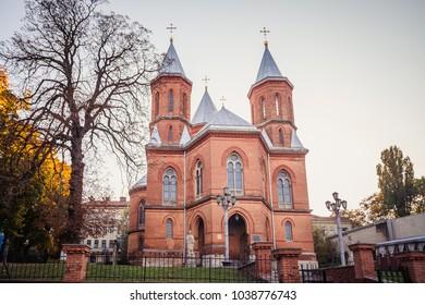 CHERNIVTSI, UKRAINE - JULY 16, 2017: Armenian church in Chernivtsi