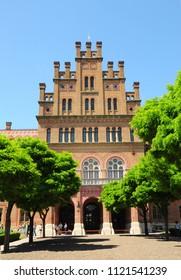 CHERNIVTSI, UKRAINE - June 26, 2018: Residence of Bukovinian and Dalmatian Metropolitans, now part of Chernivtsi University. Yuriy Fedkovych Chernivtsi National University.
