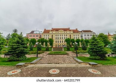 CHERNIVTSI, UKRAINE - MAY 13, 2017: Bukovina State Medical University. Architecture in the old town Chernivtsi. Western Ukraine.