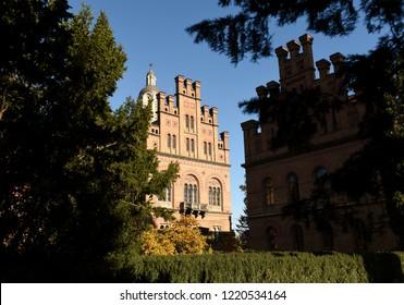 Chernivtsi, Ukraine - October 14, 2018: National University in Chernivtsi, Ukraine (Former Residence of Bukovinian and Dalmatian Metropolitans)
