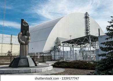 Chernobyl, Ukraine March 9, 2019. Chernobyl new safe confinement reactor 4