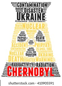 Chernobyl word cloud concept