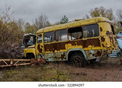 Chernobyl zone, selective focus