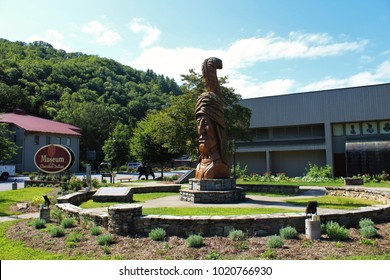 Cherokee Reserve, Tennessee- September 13, 2017- Museum of The Cherokee Indian.