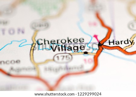 Cherokee Village Arkansas Usa On Geography Stock Photo Edit Now