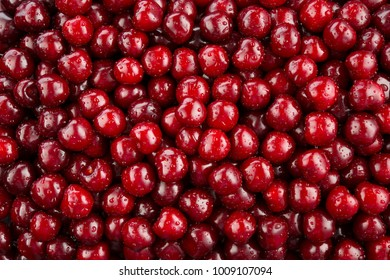 Cherries background. Cherry with drops. Food background.
