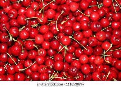Cherries backgroundRed ripe delicious cherries background