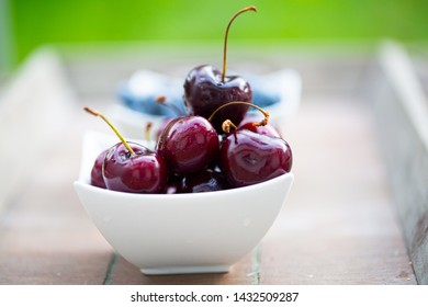 Cherries in a bowl, food, healthy, freshness