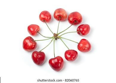 Cherries in circle shape
