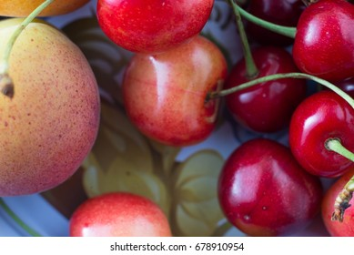 Cherries and peach