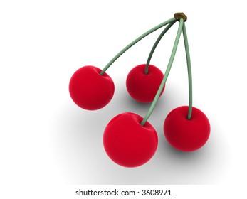 Cherry. 3d
