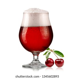 Cherry beer glass