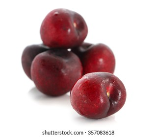 cherry berry on white background