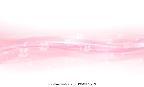 Cherry blossoms and pink waves