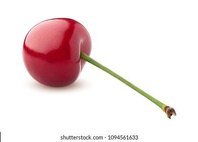 cherry, clipping path, isolated on white background, full depth of field