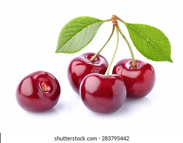 Cherry in closeup