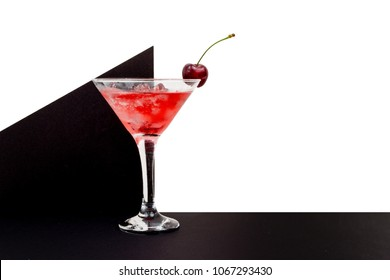 cherry cocktail composition sign