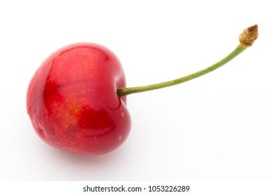 Cherry, fresh on a white background.