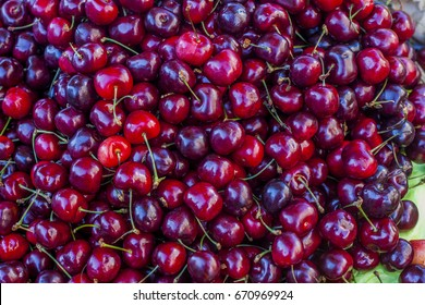 Cherry fruit pile