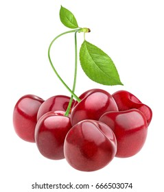 Cherry heap isolated on white background, with clipping path.