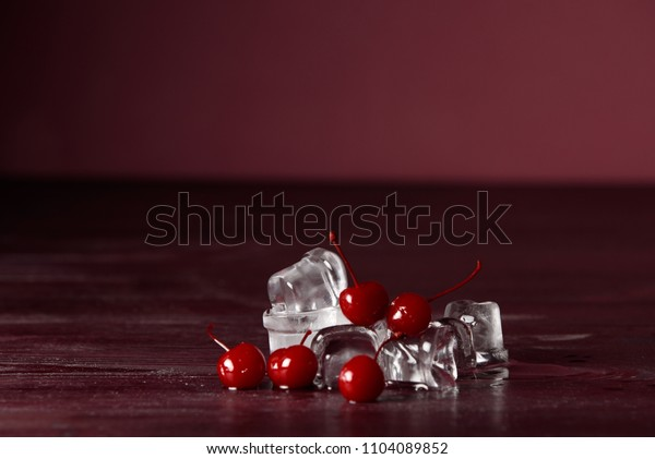 cherry with ice