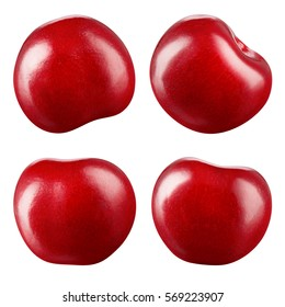 Cherry isolated on white background. Collection. With clipping path.