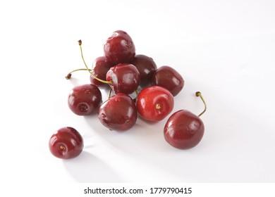Cherry isolated. Cherry on white. Cherries - Shutterstock ID 1779790415