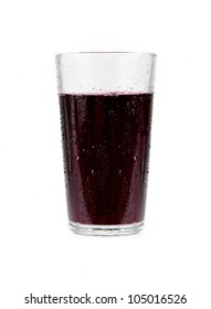 Cherry juice in a glass isolated