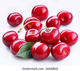 Cherry; object on a white background.