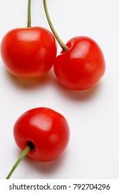 Cherry on white background