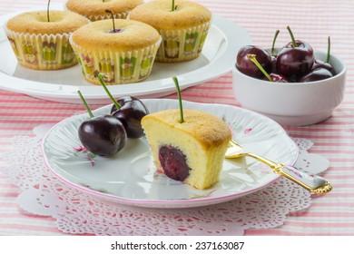 Cherry tea cakes