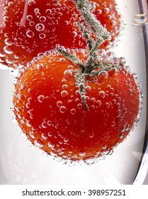 cherry tomatoes with gas bubbles
