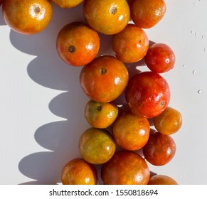 cherry tomatoes ripened in the Mediterranean sun in summer