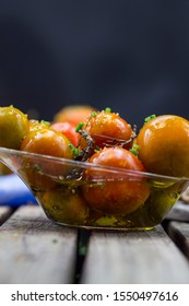 cherry tomatoes seasoned with olive oil