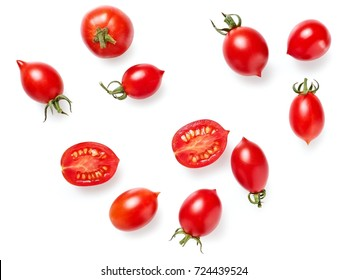 Cherry tomatoes, top view