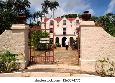 Cherry Tree Hill, Barbados, West Indies, St. Nicholas Abbey, Plantation home, built in 1635, June 6, 2002