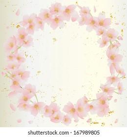 Cherry tree Illustration Japan