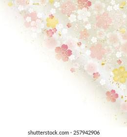 Cherry tree Japan Illustration material